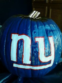 New York giants pumpkin for the hubby
