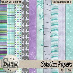 #SusDesigns #DigiScrap Solstice paper pack