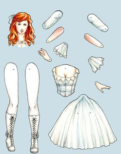 Ginger - articulated paper doll