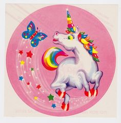 Vintage Lisa Frank Sticker..... awwww I used to LOVE Lisa Frank stuff
