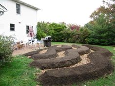 good example of swale and raised bed...
