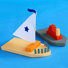 Styrofoam Crafts for Kids ..... toy boats