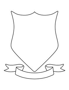 Coat of arms pattern. Use the printable outline for crafts, creating stencils…