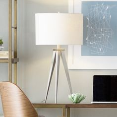 """Bradbury 29"""" Tripod Table Lamp Traditional Table Lamps, Tripod Table Lamp, Contemporary Table Lamps, Joss And Main, Oil Rubbed Bronze, All Modern, Lights, Langley Street, Room"""