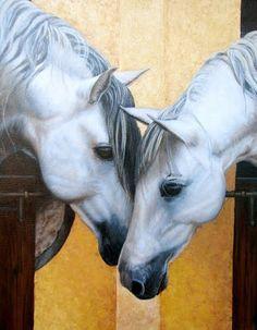 Pinturas & Cuadros: Dos cabezas de equinos