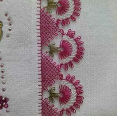 This Pin was discovered by HUZ Knitting Blogs, Knitting Patterns, Crochet Patterns, Crochet Stitches, Crochet Unique, Love Crochet, Needle Tatting, Needle Lace, Crochet Borders