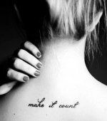Sexy Short Life Quote Tattoos for Girls - Best Back Short Life Quote Tattoos for Girls