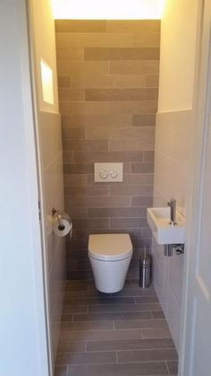 Small toilet for Small Bathroom – Interior House Paint Ideas Check more at www. Toilet For Small Bathroom, Small Toilet Design, Bathroom Under Stairs, Bathroom Design Small, Bathroom Layout, Bathroom Ideas, Cloakroom Ideas Small, Bathroom Vanities, Cloakroom Storage