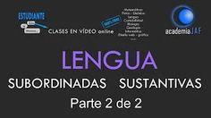 academia jaf lengua ejemplos oracion compuesta - YouTube