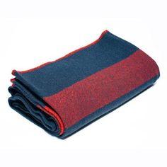 US Cavalry Navy / Brick Red Wool Civil War Blanket