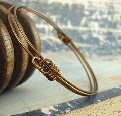 Adjustable Vintage Bronze Bangle Bracelet by favmoongirl on Etsy, $20.00