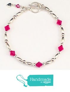 Swarovski Crystals, Beaded Bracelets, Personalized Items, Amazon, Red, Handmade, Jewelry, Amazons, Hand Made