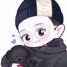 No photo description available. Exo Chanyeol, Baekhyun Fanart, Kpop Exo, Kpop Fanart, Chanyeol Birthday, Exo Cartoon, Manga, Exo Stickers, Exo Anime