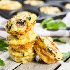 Muffin Tin Omelettes