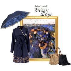 'I don't mind rainy days' contest entry featuring 'The Umbrellas' c.1880 by Pierre-Auguste Renoir  ***  1st place in group contest: Impressionists 4/5: Pierre-Auguste Renoir