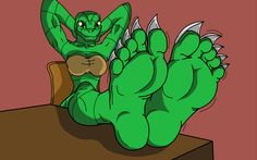Female lizard shows off her soft soles.