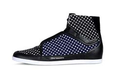 The Y-3 Honja High Shoes in a Piercing Polka Dot Design #shoes #footwear trendhunter.com