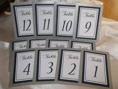 Silver Glitter & Navy Blue Wedding Table Numbers Set of 12 Personalized Bridal Shower Anniversary Party Customized Color 078