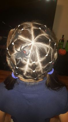 Spider web for Crazy hair day