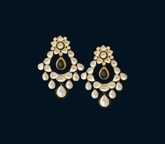 designer polki earrings‎