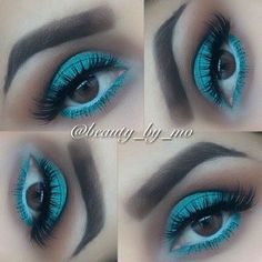 A pop of color for brown eyed girls.