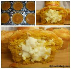 Cream stuffed pumpkin  muffins