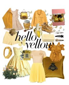 """""""yellow"""" by susannahholopainen ❤ liked on Polyvore featuring WALL, Opening Ceremony, Chunk, Timorous Beasties, Silvia Tcherassi, Retrò, FRUIT, Converse, Puma and Boutique Moschino"""