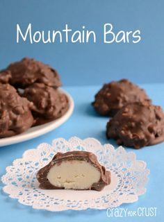 Mountain Bars {copycat} Candy Bar Recipe by www.crazyforcrust.com