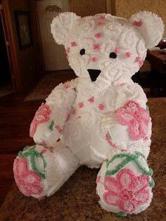 Sweet Old Chenille Teddy Chenille Crafts, Chenille Bedspread, Chenille Blanket, Vintage Bedspread, Sewing Crafts, Sewing Projects, Doll Toys, Dolls, Vintage Teddy Bears