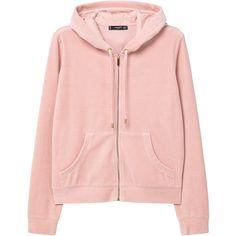 Zipped Hoodie (€46) ❤ liked on Polyvore featuring tops, hoodies, zip hoodies, hooded sweatshirt, zipper hoodies, logo hoodies and hooded pullover