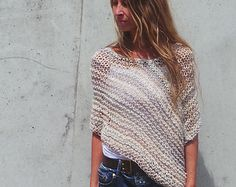 Gray sheer poncho coverup by ileaiye on Etsy