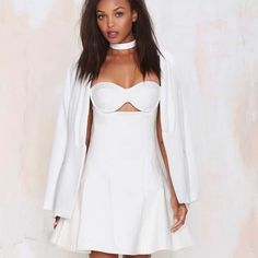 Can'T Get Enough Strapless Dress Nasty Gal