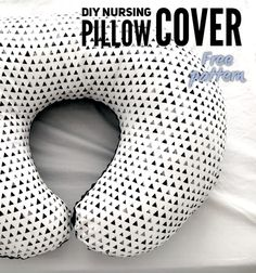 Skip the pink flowers or baby animals by making your own nursing pillow cover. That fits most pillows including the Boppy pillow. Boppy Pillow Cover, Nursing Pillow Cover, Diy Pillow Covers, Decorative Pillow Covers, Nursing Cover Pattern, Breastfeeding Pillow, Pregnancy Pillow, Sewing For Kids, Baby Sewing