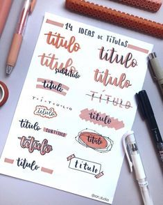Are you looking for bullet journal fonts to add creative flair to your journal and improve your handwriting? These fabulous fonts for your bullet journal are perfect for the bujo addict! Bullet Journal School, Bullet Journal Headers, Bullet Journal Banner, Bullet Journal Notebook, Bullet Journal Title Page, Daily Journal, Bullet Journals, Art Journals, Journal Fonts