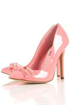 GLOW Patent Bow Point Court Shoes - View All  - Shoes  - Topshop
