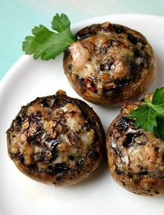 Stuffed Mushrooms-I made these yesterday with Christmas dinner. My husband said they were the best stuffed mushrooms he's ever eaten...had me cook them again tonight!