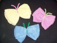Butterfly Wash Cloths for diaper cakes and gift baskets