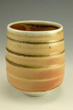 Shino cup- wood fired- natural ash glaze