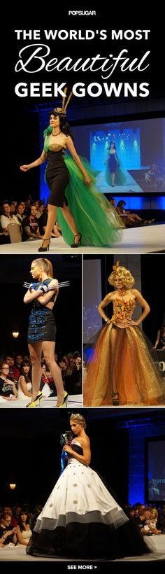 These geeky gowns are incredibly gorgeous!