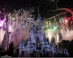 Cinderella's castle for christmas with fireworks display will leave you breathless!
