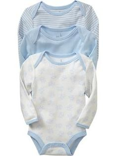 2 short sleeved sets of these Little Bundles Bodysuit 3-Packs for Baby | Old Navy