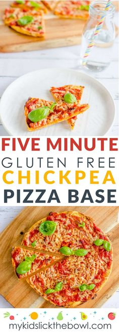 Five minute gluten free chickpea pizza base, An easy healthy pizza crust recipe, great idea for kids