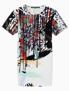Abstract Graffiti Shift Dress | Choies - $32.82  there it is again!