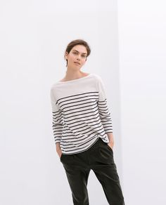 Image 1 de T-SHIRT À RAYURES de Zara 14,95