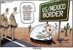 US/Mexico Border - Cartoon