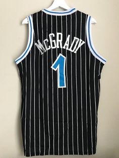 c0f7b726d Tracy Mcgrady  1 Orlando Magic Black Basketball Vintage Jersey Men s