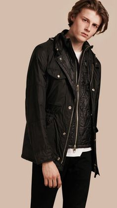 Black Ultra-lightweight Field Jacket with Removable Warmer 1