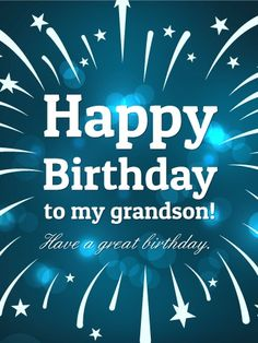 Send Free Golden Happy Birthday Wishes Card For Grandson To Loved Ones On Greeting Cards By Davia Its And You Also Can Use Your Own