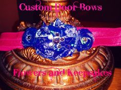 $4.00 Rolled Flower Headband. Go to my Facebook Page at Custom Door Bows, Flowers and Keepsakes!