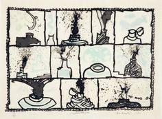 Gravure - Pierre Alechinsky - Encriers témoins